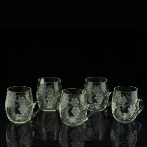 Set of 5 beer glasses