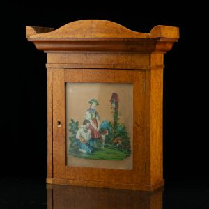 Antique wall mounted key cabinet