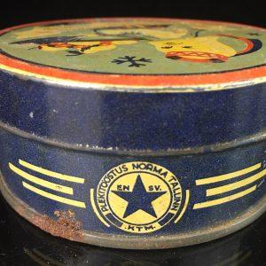 "Tin box for candy, Estonian,  ""Karamell"""