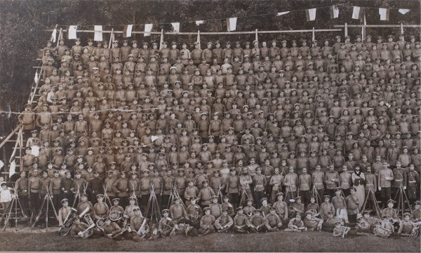 Antique 1910  Estonian Photo of a brass band