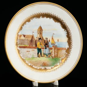 Antique Vienna porcelain plate
