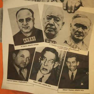 Antique Poster of most wanted criminals