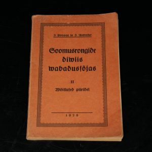 """Estonian Antique book  """"Soomusrongide diviis vabadussõjas"""" II  1929a"""