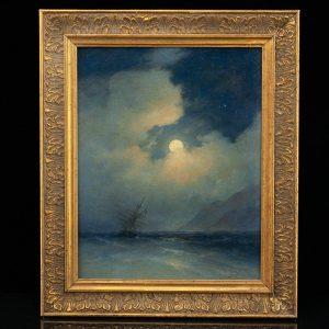 Antiikne õlimaal Tormine meri