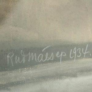 Rudolf Mäesepp Tallinna vanalinn 1934a,pastell