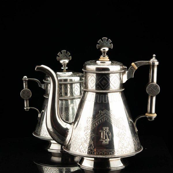 Tsaari-Vene kohvikann ja suhkrutoos, 84 hõbe, 1882