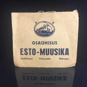 """Osaühisus """"Esto-Muusika"""" noodi ja muusikariistade kaupluse reklaamkott"""