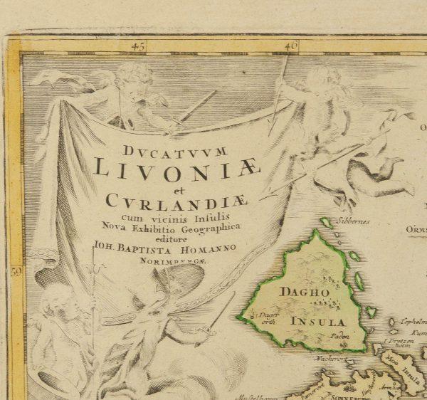 Antiikne maakaart Livoniea cyrlandiea