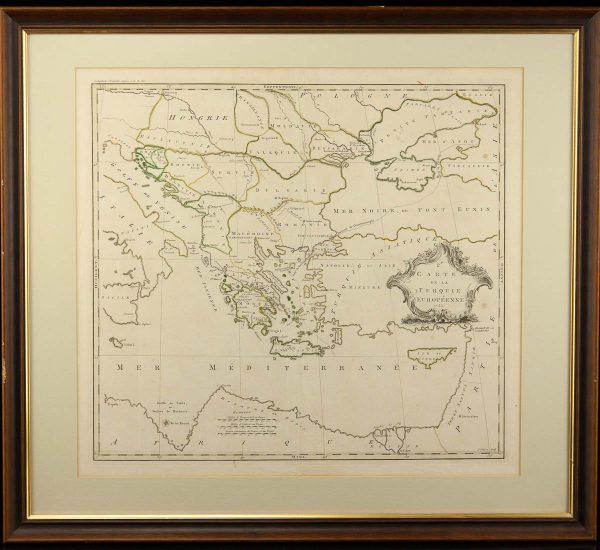 Antiikne maakaart Carte Turquie Euroeenne