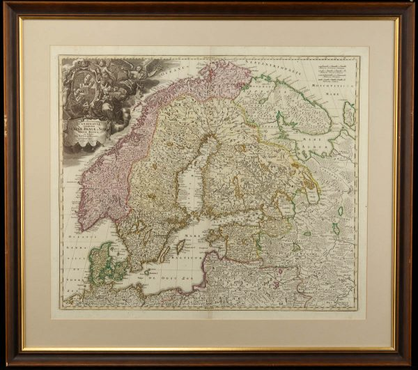 Antiikne maakaart Scandnavia