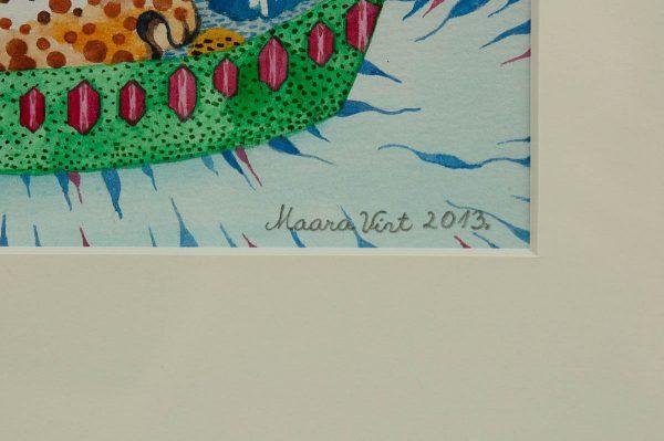 """Maara Vint """"Pärlhüatsindid""""akvarell 2013 a"""