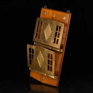 Art Deco wall mounted newspaper holder