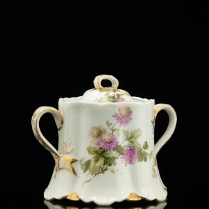 Antique Russian Kornilov porcelain sugar bowl
