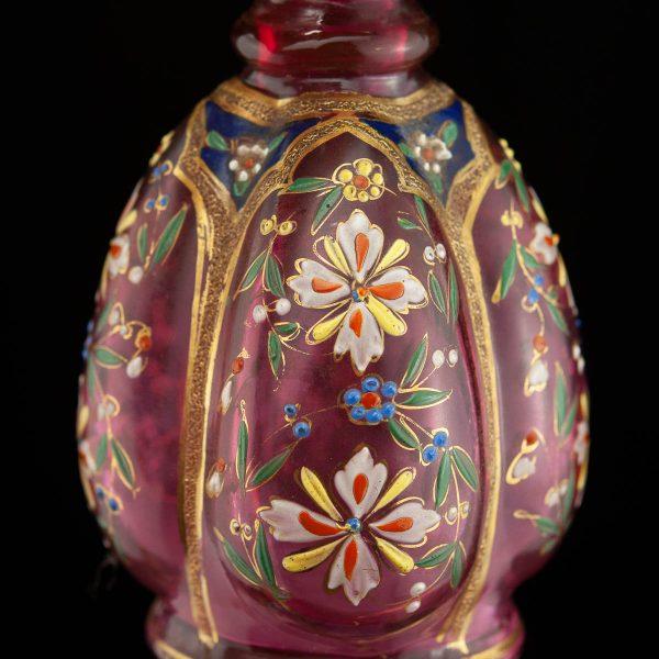 Antiiksed käsimaaliga parfüümipudelid 2 tk - klaas