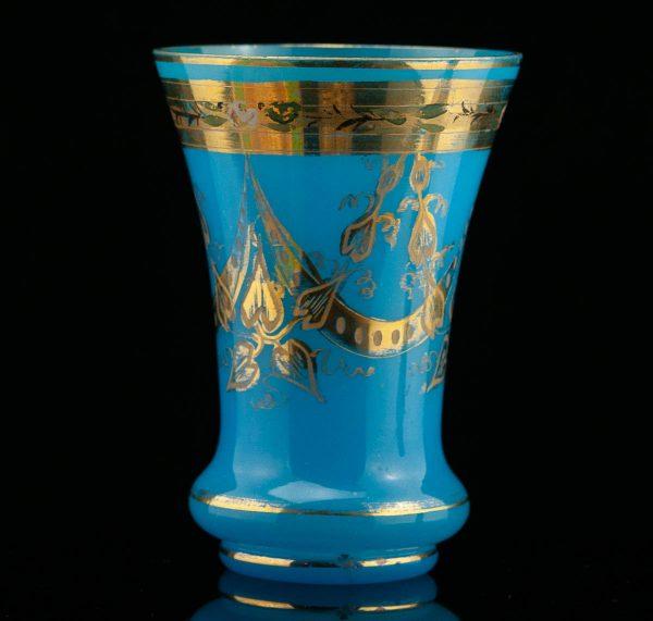 Antiikne vaas, sinine klaas käsimaaling