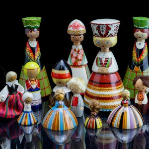 Different Estonian Salvo dolls