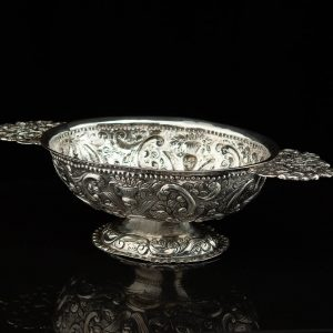 Antique 18th century Dutch silver bowl