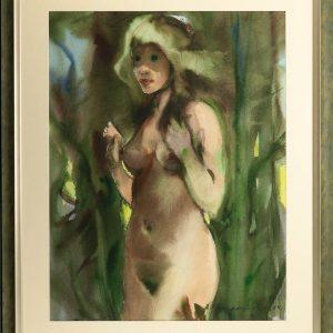 Enno Lehis 1912-2011 akvarell Akt 1974