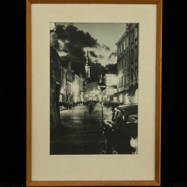 Vintage photo of Viru Street in Tallinn, Estonia
