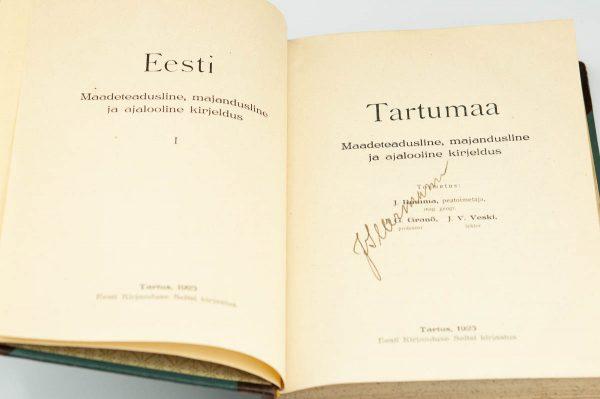 Antique Estonian Book - Tartumaa 1925