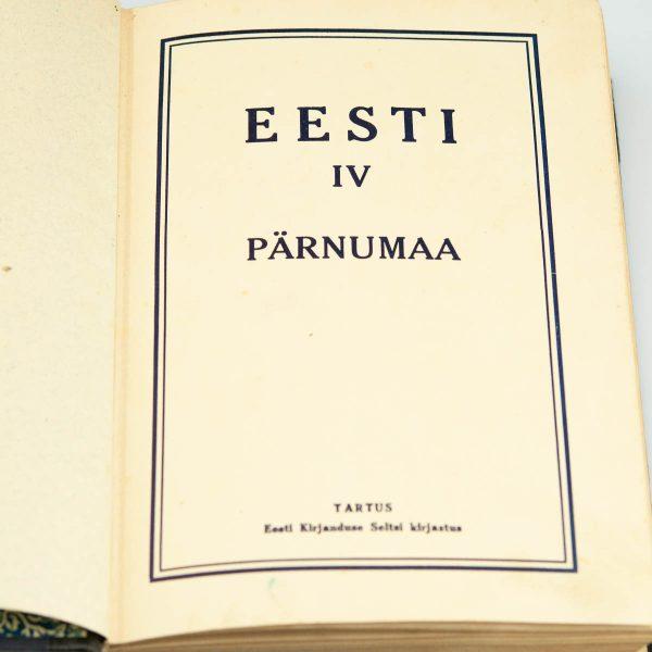 Antique Estonian Book about Pärnumaa 1930