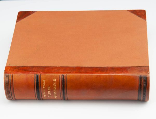Voldemar Vaga Art History book, 1937 , Taska leather