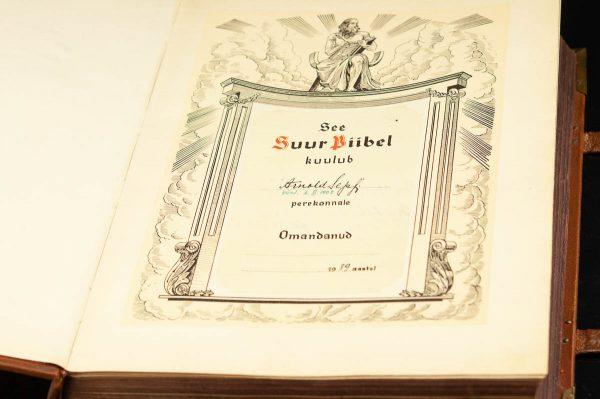 "Antique ""Suur Piibel"" , large size bible 1939"