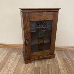 Small Art Nouveau wall mount cabinet