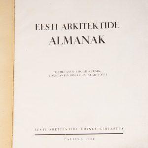 Eesti Arkitektide ALMANAK 1934a