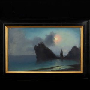 Antique 1909 sea painting