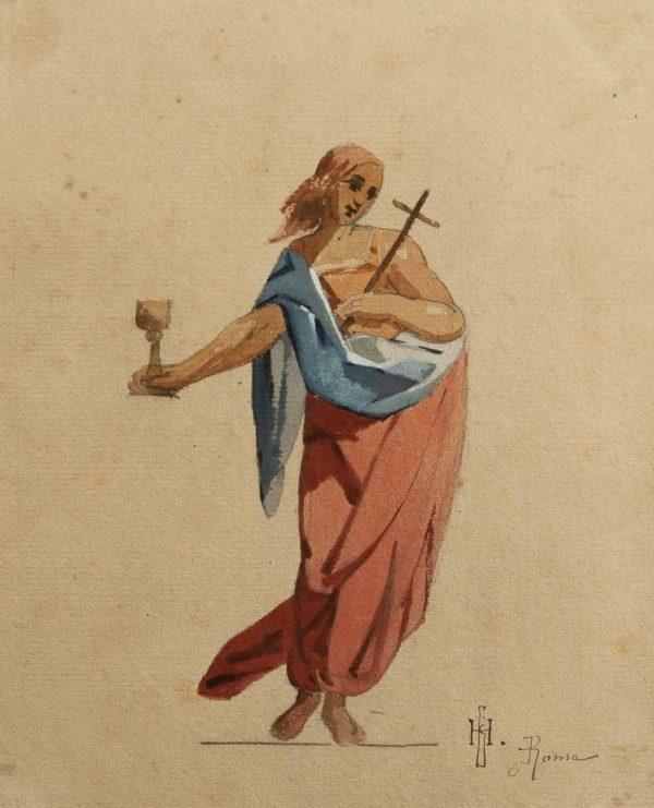 Nikolai Blinov (1868-1966) akvarell ''Roma''