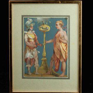 Nikolai Blinov (1868-1966) watercolor Roma