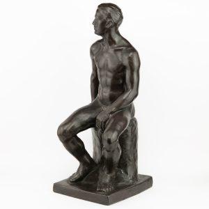 Skulptuur glasuuritud savi