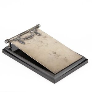 Antique Estonian silver paper holder