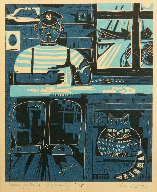 Alex Kütt (1921-1991) Kalur ja kass 1966a