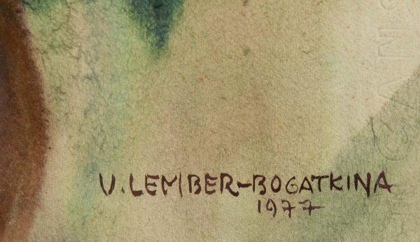 Valli Lember-Bogatkina (1921-2016) Lilled  1977a