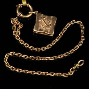 Antique Pocket Watch chain with medalion