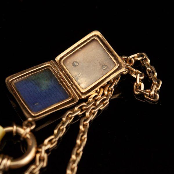 Antiikne uurikett medaljoniga, 56/585 kuld