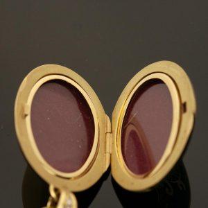 Sinise emailiga medaljon - 750 kuld, briljandid