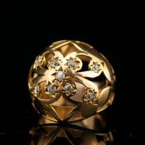 Antiikne sõrmus, 56 kuld, briljandid