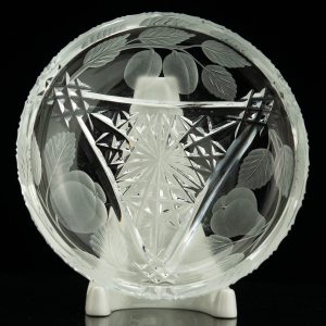 Antique Estonian Lorup crystal plate