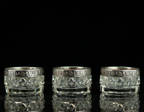EW aegne kristall soolatoos, hõbe äär 875 prooviga