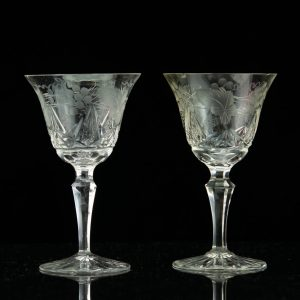 Antique Estonian crystal wine glasses