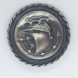 Antique Estonian silver brooch