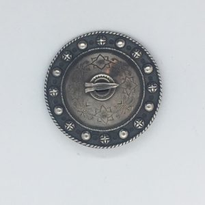 Antique Estonian silver brooch
