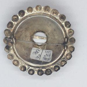 Antique Estonian silver brooch, mastermark O.K