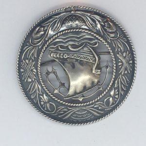 Vintage Estonian silver brooch KFK
