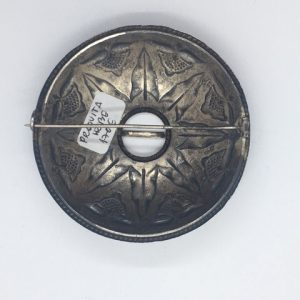 Antique silver brooch, end of 19th century