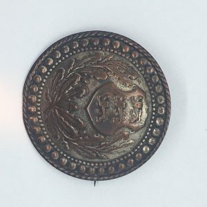 Antique brooch with Coat of arms of Estonia