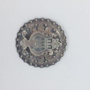 Estonian silver brooch by P. Rooslaid